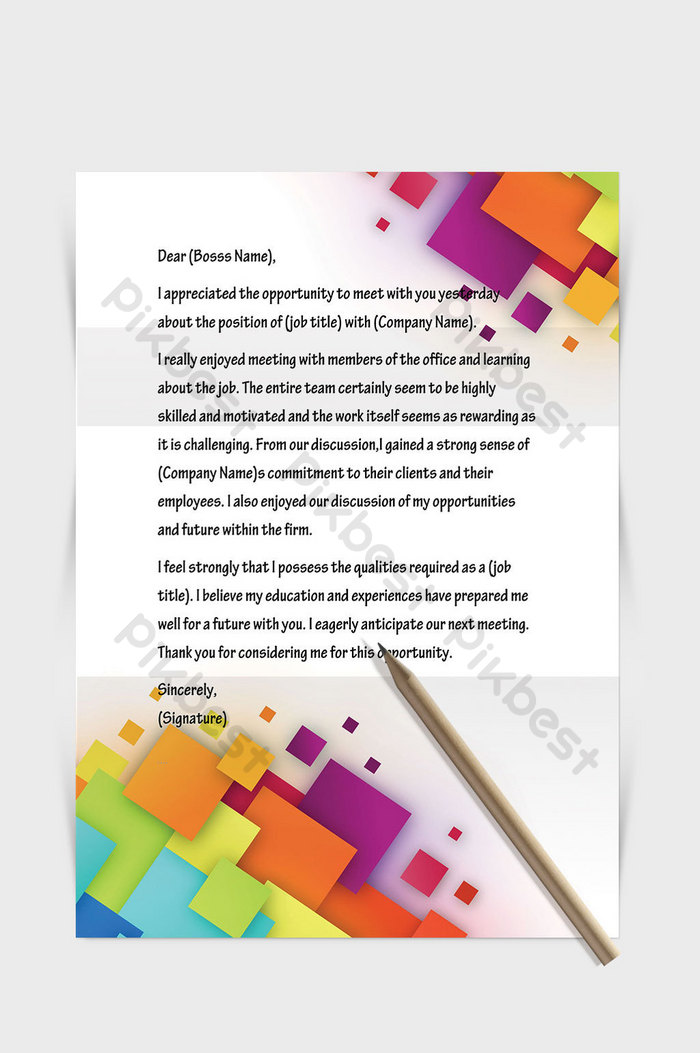 colorful solid geometric squares business stationery template word document