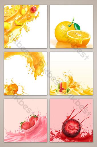 Jus de fruits Taobao e commerce fond de carte principale Fond Modèle PSD