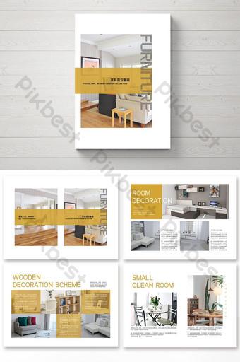 Брошюра о простом и стильном декоре мебели шаблон PSD