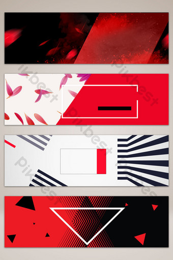fondo de banner de taobao de comercio electrónico de marca negro rojo simple y estilo Fondos Modelo PSD