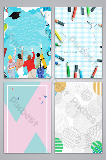 youth simple line graduation opening season board fresh background map Backgrounds Template PSD
