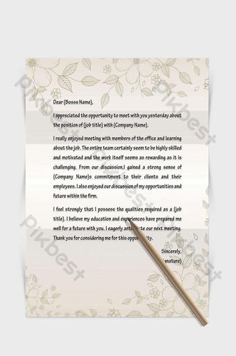 Beau document de mot papier lettre européenne frontière plante peinte à la main Word Modèle DOCX
