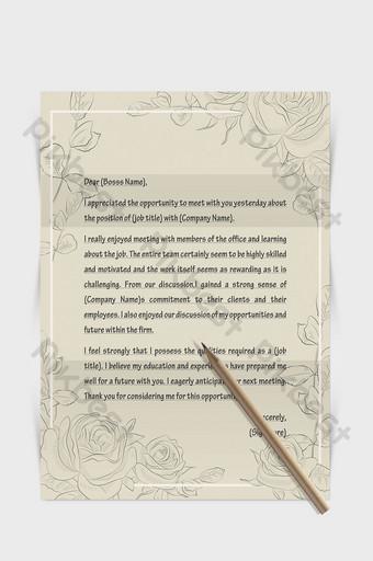 Document de mot papier lettre européenne frontière motif peint à la main Word Modèle DOCX