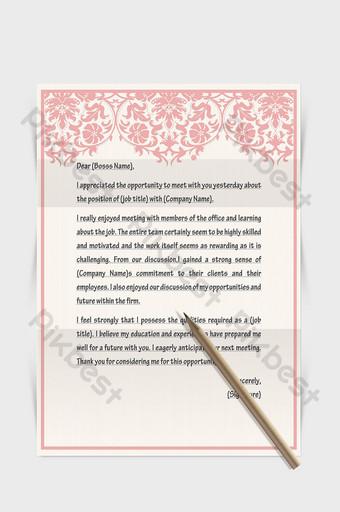Document de mot papier lettre européenne frontière motif rose Word Modèle DOCX