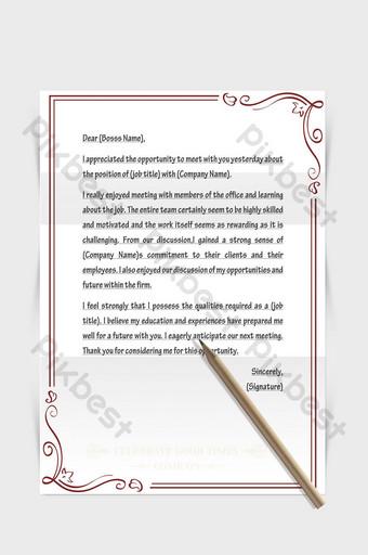 Document de mot de papier de lettre européenne de frontière de modèle minimaliste moderne Word Modèle DOCX
