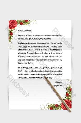 borde de rosa roja documento de palabra de papel de carta europea Word Modelo DOCX
