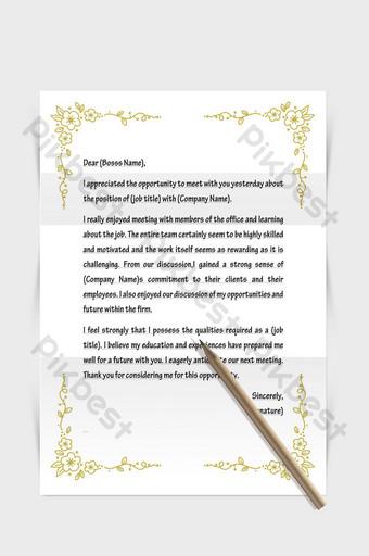 Document de mot de papier de lettre européenne de frontière de modèle simple haut de gamme doré Word Modèle DOCX