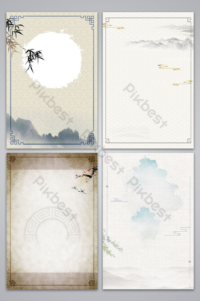 chinese style ancient shading poster background map