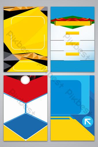 بسيطة وأنيقة هندسية ملف تعريف الشركات تصميم ملصق صورة الخلفية خلفيات قالب PSD