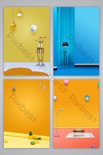 mapa de fondo de diseño de escena de fotografía interior de color fresco y simple literario Fondos Modelo PSD