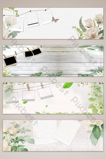 相框清新文藝banner海報背景 背景 模板 PSD