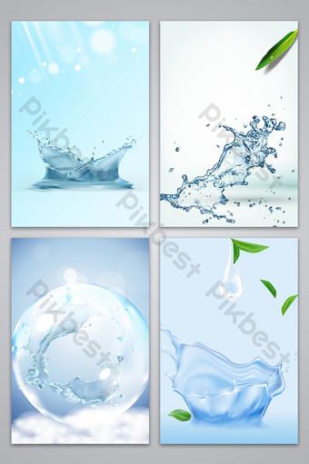 imagen de fondo del cartel del producto del cuidado de la piel hidratante de la textura del vector Fondos Modelo AI