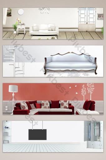 文藝清新質感家具海報橫幅背景 背景 模板 PSD