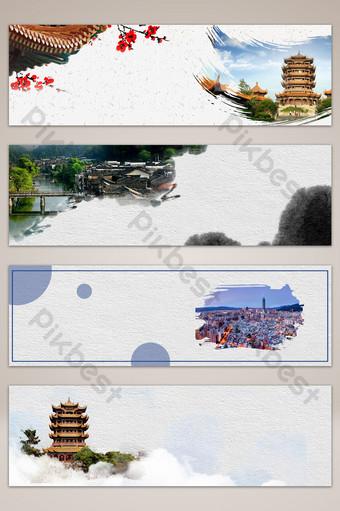 fondo de cartel de banner simple de agencia de viajes de turismo Fondos Modelo PSD