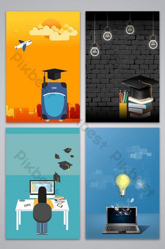 Image d'arrière-plan affiche vecteur éducation étude à l'étranger entrée postdoctorale Fond Modèle AI