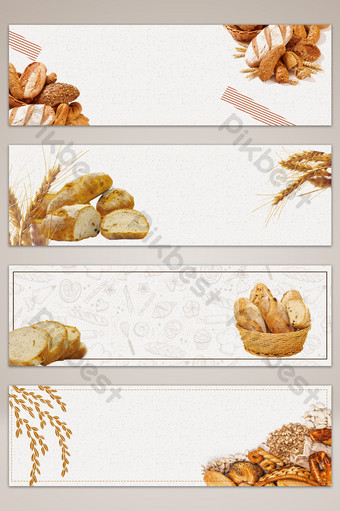 fondo de cartel de banner simple pan de panadería Fondos Modelo PSD