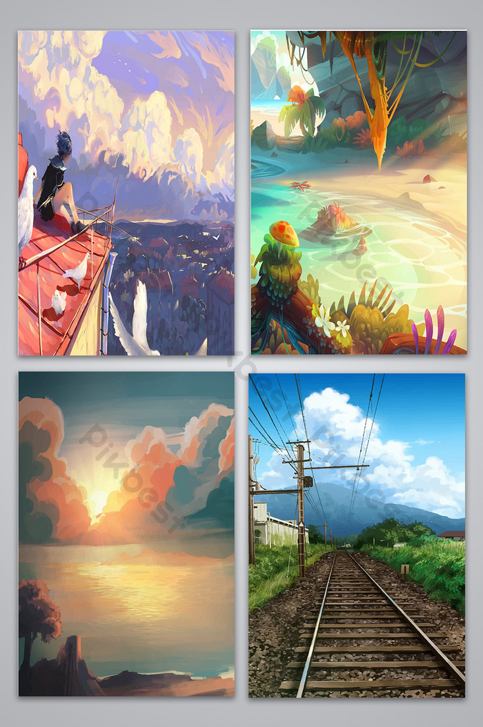 Download 46+ Background Pemandangan Anime Gratis