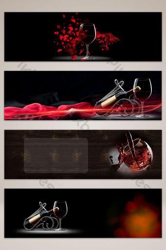 fondo de cartel de banner de vino tinto de estilo de gama alta Fondos Modelo PSD