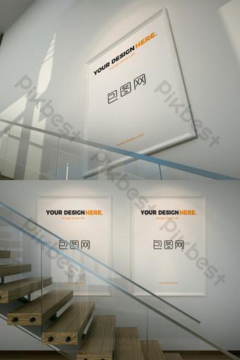 Biuro makieta plakatu sceny klatki schodowej Szablon PSD