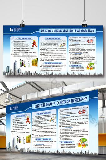 社區物業服務管理系統宣傳欄模板 模板 PSD