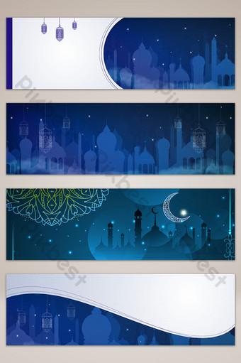 الإسلامية فانوس سريع ليلة السماء راية الخلفية الخريطة خلفيات قالب AI