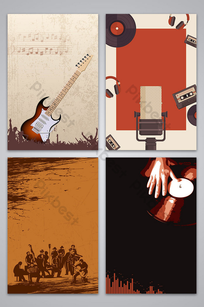 Vector vintage jazz music poster background image