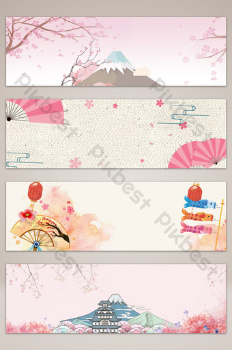 fondo de cartel de banner de cultura de viajes japoneses Fondos Modelo PSD