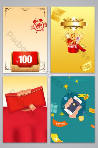 Carte de fond de conception de publicité de cadeau de tirage au sort Fond Modèle PSD