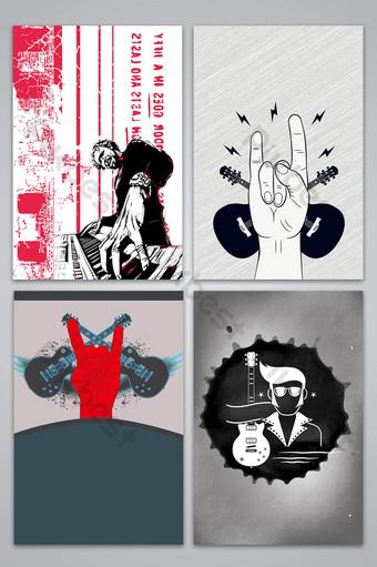 vector dibujado a mano imagen de fondo del cartel de la música rock Fondos Modelo AI