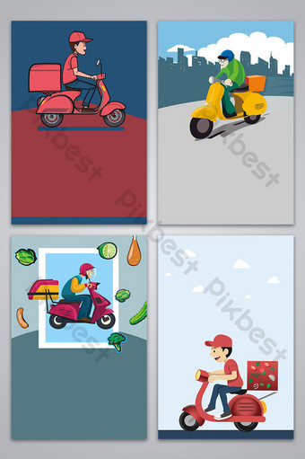 vector takeaway food delivery poster background image Backgrounds Template AI
