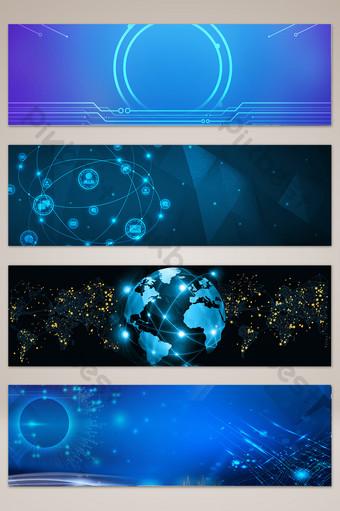 fondo de cartel de banner de sitio web de tecnología fresca Fondos Modelo PSD