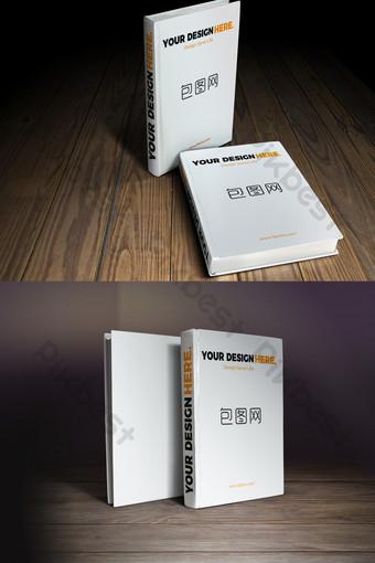 Bàn gỗ hình ảnh dựng thẳng Brochure sách mockup Bản mẫu PSD