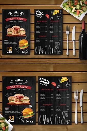 Thời trang vẽ tay bánh mì kẹp thịt pizza thức ăn nhanh phục vụ thực đơn khuyến mãi Bản mẫu AI