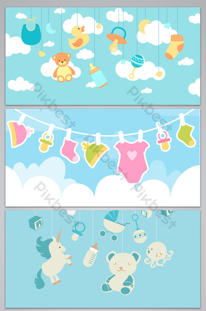 baby goods poster design background