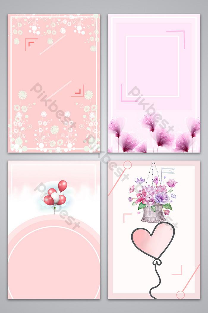 Romantic Wedding Sweet Pink Invitation Poster Background