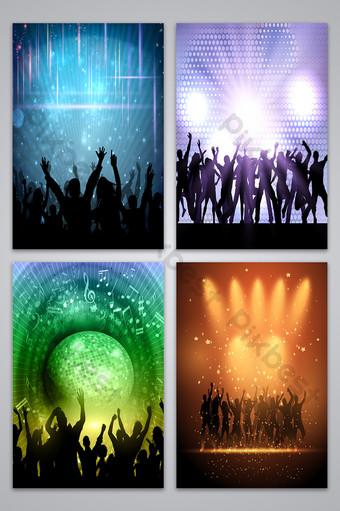 矢量酒吧舞台海報背景圖像 背景 模板 AI