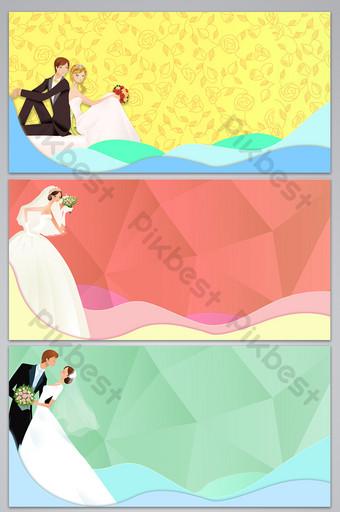 imagen de fondo del diseño de la boda del amor romántico simple Fondos Modelo PSD