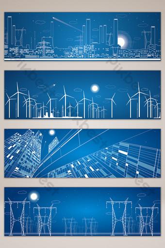 mapa de fondo de banner de ciudad dibujado a mano de línea simple Fondos Modelo AI