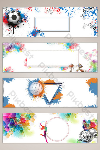 ألوان مائية الرياضة الكتابة على الجدران راية الملصقات الخلفية خلفيات قالب PSD