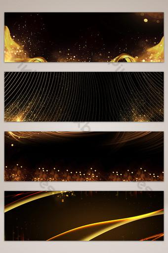 金色光環黑色海報橫幅背景圖 背景 模板 PSD