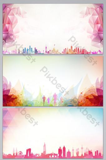 Carte de fond de conception de panneau d'exposition d'événement à grande échelle simple et de style Fond Modèle PSD