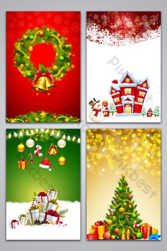fondo de diseño de publicidad de cartel simple de navidad romántica Fondos Modelo PSD