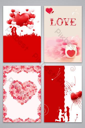 amor elemento de amor imagen de fondo lindo del diseño del corazón Fondos Modelo AI