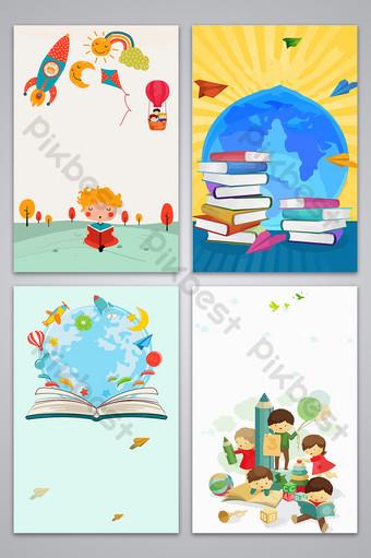 Tableau d'affichage des étudiants Tabloïd Carte de fond de conception d'affiche d'inscription à l'école primaire Fond Modèle AI