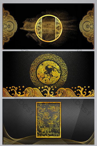Gold Background Templates Psd Vectors Png Images Free