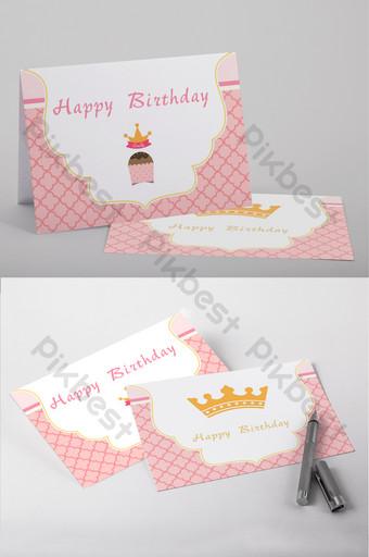 Modèle Word de carte de voeux anniversaire princesse rose Word Modèle DOC