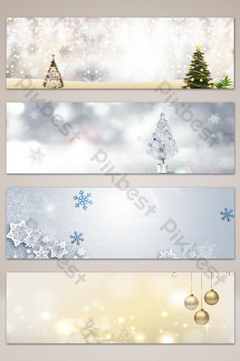 fondo romántico del cartel de la bandera de la navidad de la nieve blanca del sueño Fondos Modelo PSD