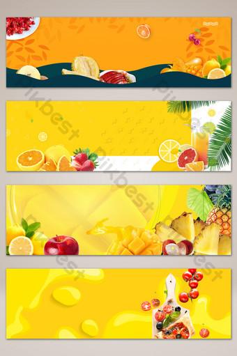 文學和新鮮水果市場橫幅海報背景 背景 模板 PSD
