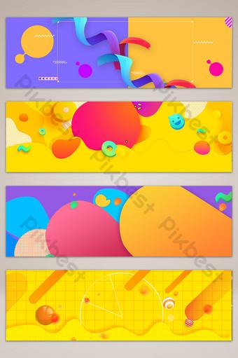 cartel de fondo de banner de promoción creativa geométrica Fondos Modelo PSD
