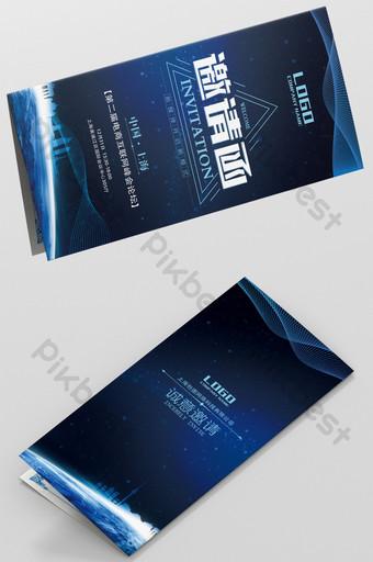 الزرقاء التكنولوجيا التجارية الراقية مؤتمر القمة السنوي منتدى خطاب دعوة قالب PSD